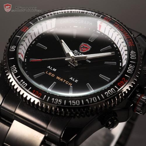 relogio de pulso shark mako series sport prova d'água quartz