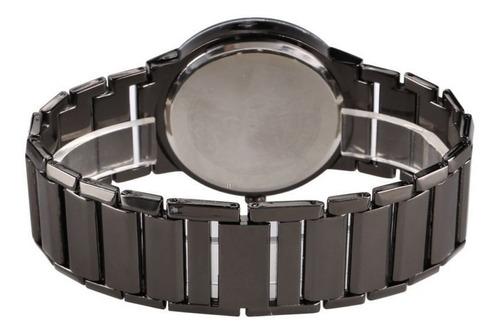 relógio de pulso sinobi quartz esporte aço inox casual lazer