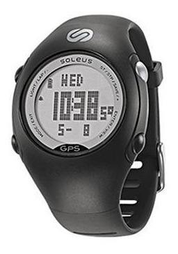 relógio de pulso soleus gps mini - preto