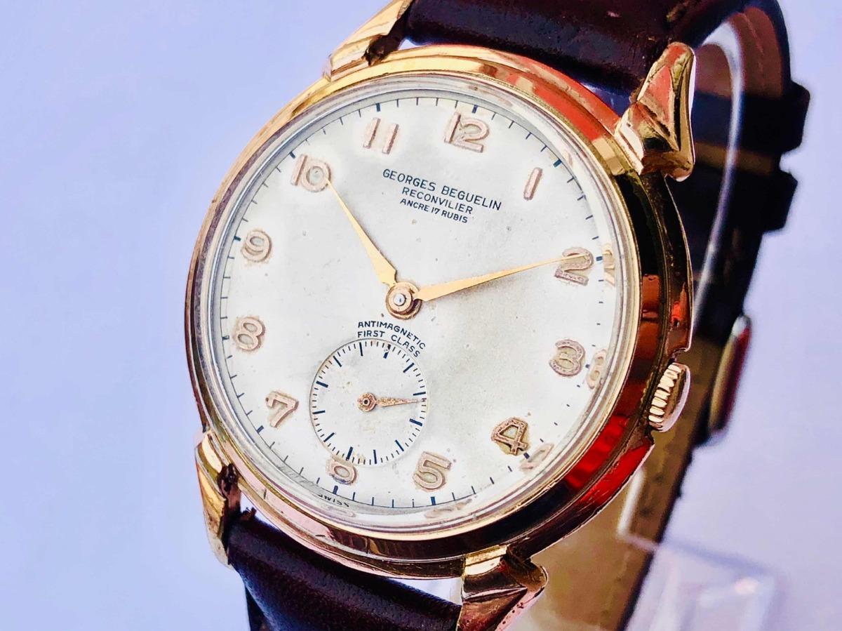 7510ac39ccc relógio de pulso suíço georges beguelin reconvilier à corda. Carregando  zoom.