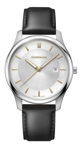 relógio de pulso suíço pulseira couro wenger city classic
