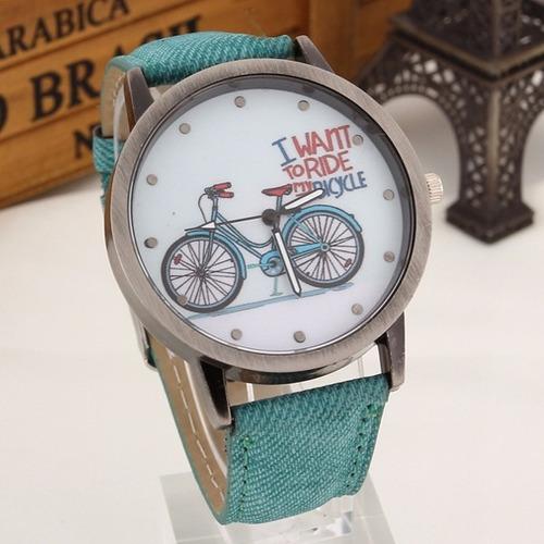 relógio de pulso unissex bicycle feminino bicicleta presente