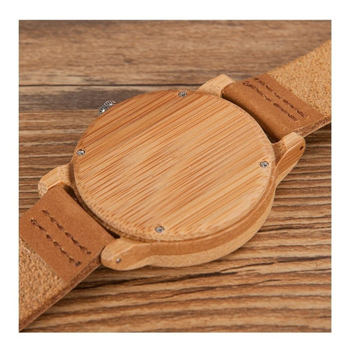 relógio de pulso unissex ecológico madeira bambu bobo bird