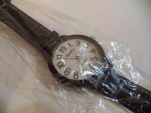 relógio de pulso unissex geneva platinum