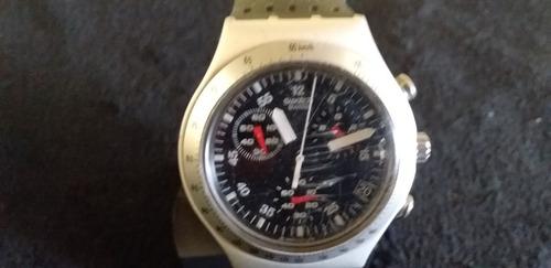 relógio de pulso unissex swatch irony aluminium swiss