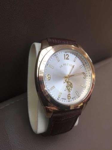 relógio de pulso us polo assn. dourado. imp.usa.