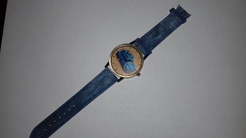 relógio de pulso vw fusca - azul