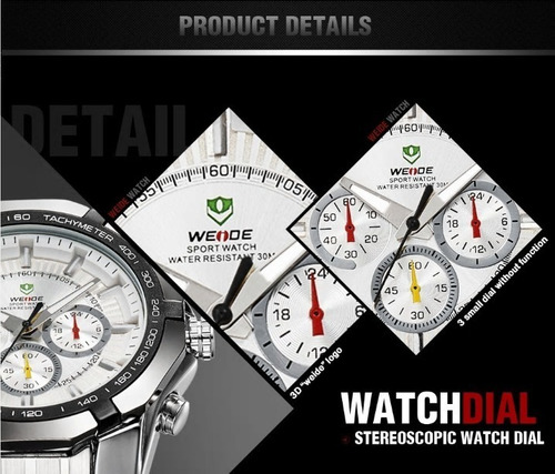 relógio de pulso weide wh-1010 original importado