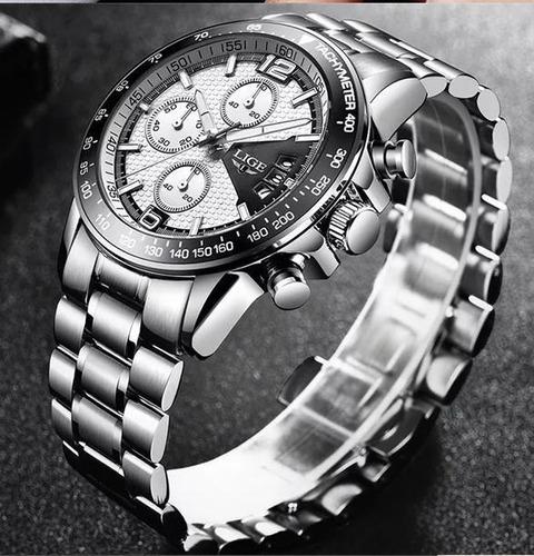 relógio de quartzo liger. luxo e resistência.