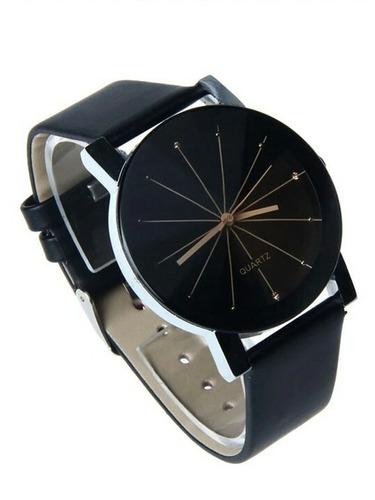 relógio de quartzo pulseira de couro barato feminino