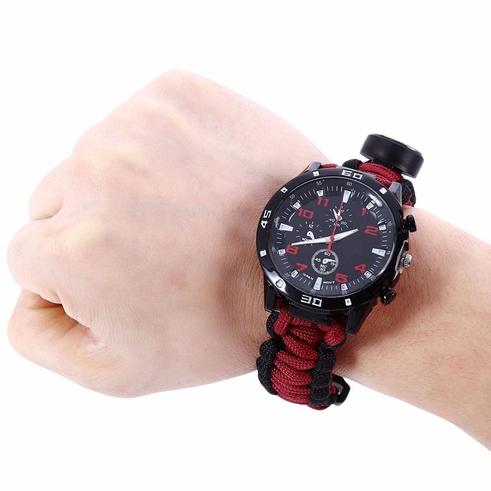 c2c22354de8 relógio de sobrevivência 6 em 1 militar bússola vermelho. Carregando zoom.