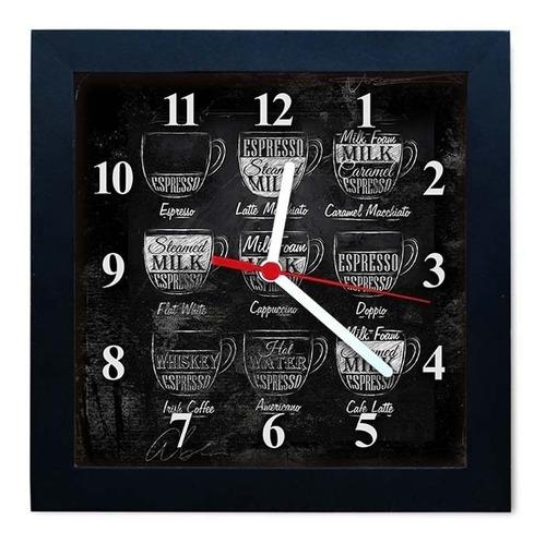 relógio decorativo caixa alta tema café - qw001
