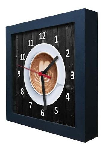 relógio decorativo caixa alta tema café - qw002