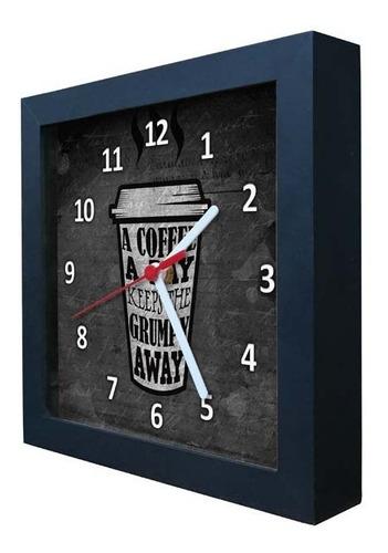 relógio decorativo caixa alta tema café - qw003