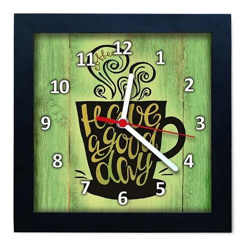 relógio decorativo caixa alta tema café - qw004
