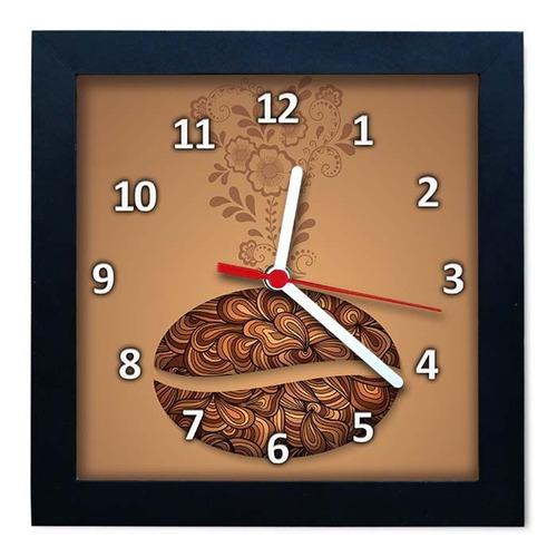 relógio decorativo caixa alta tema café - qw007