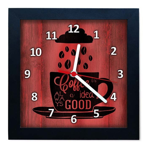 relógio decorativo caixa alta tema café - qw009