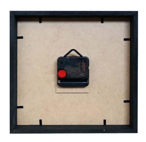 relógio decorativo caixa alta tema café - qw011