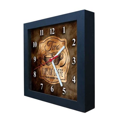 relógio decorativo caixa alta tema café - qw015