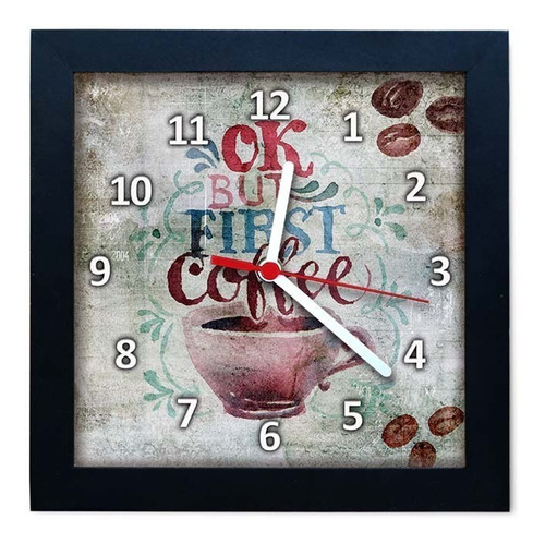 relógio decorativo caixa alta tema café - qw016