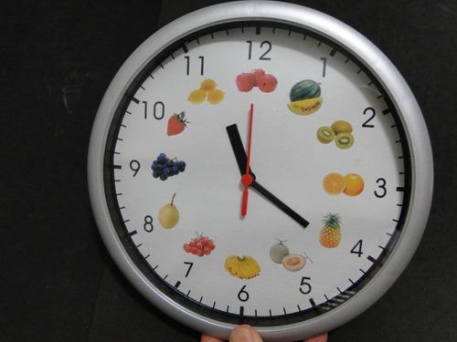 relogio  decorativo  cozinha  frutas