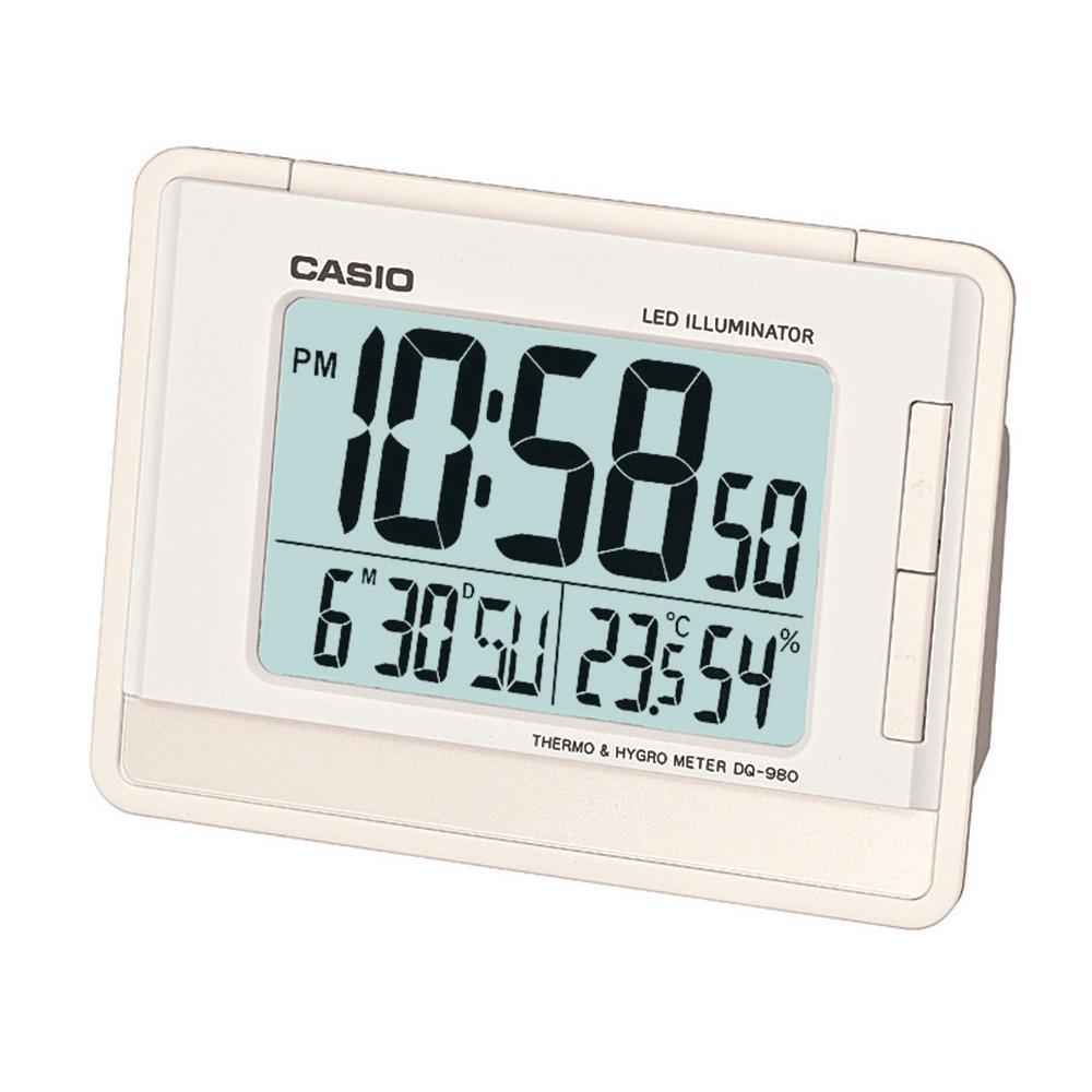 fe4b7fa17571 relógio despertador digital calendário casio dq-980-7df. Carregando zoom.
