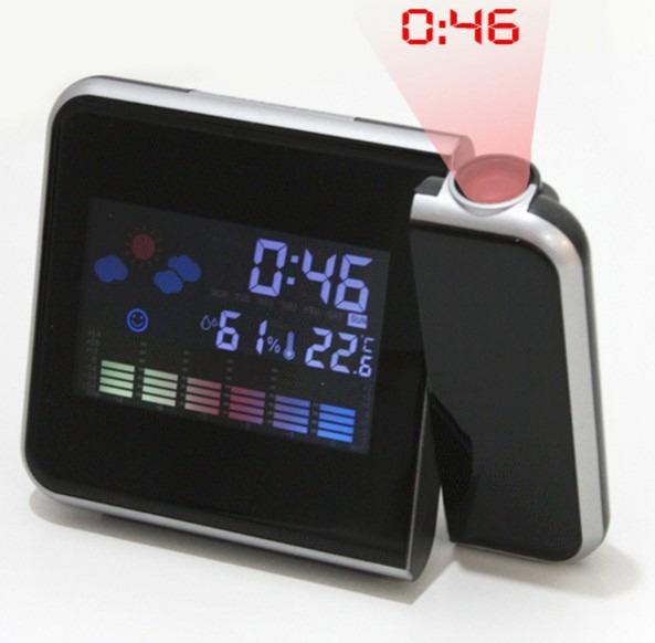 fa425f493f8 Relógio Despertador Digital Com Projetor De Horas Na Parede - R  43 ...