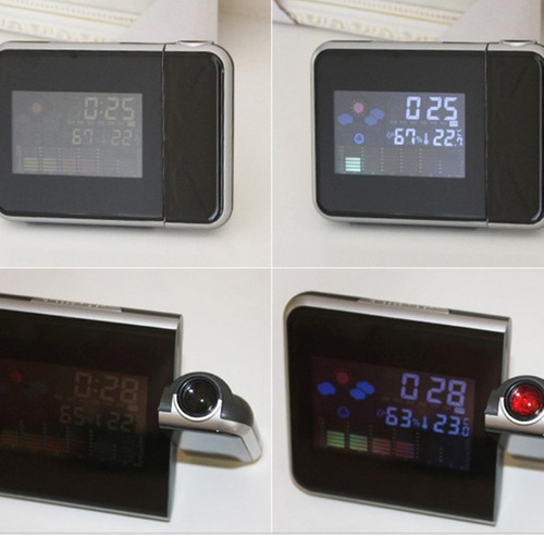 relógio despertador digital com projetor de horas na parede