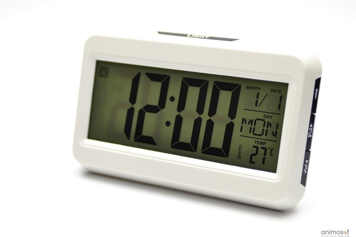 d949a0c3222 relógio despertador digital cubo termômetro sensor prata. Carregando zoom.