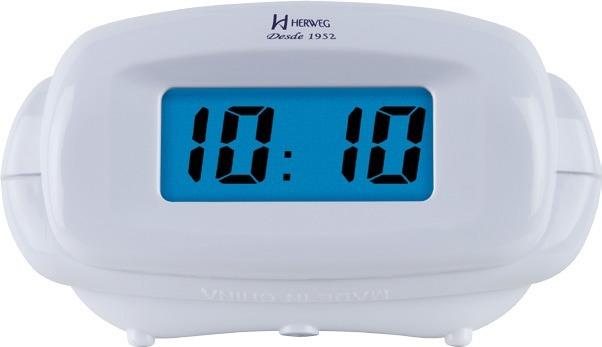 2cab768410f Relógio Despertador Digital Luz Noturna Branco Herweg 2973 - R  120 ...