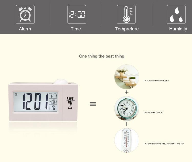 edb66a3e37a Relógio Despertador Digital Nixie Com Projetor Luz Led - R  239