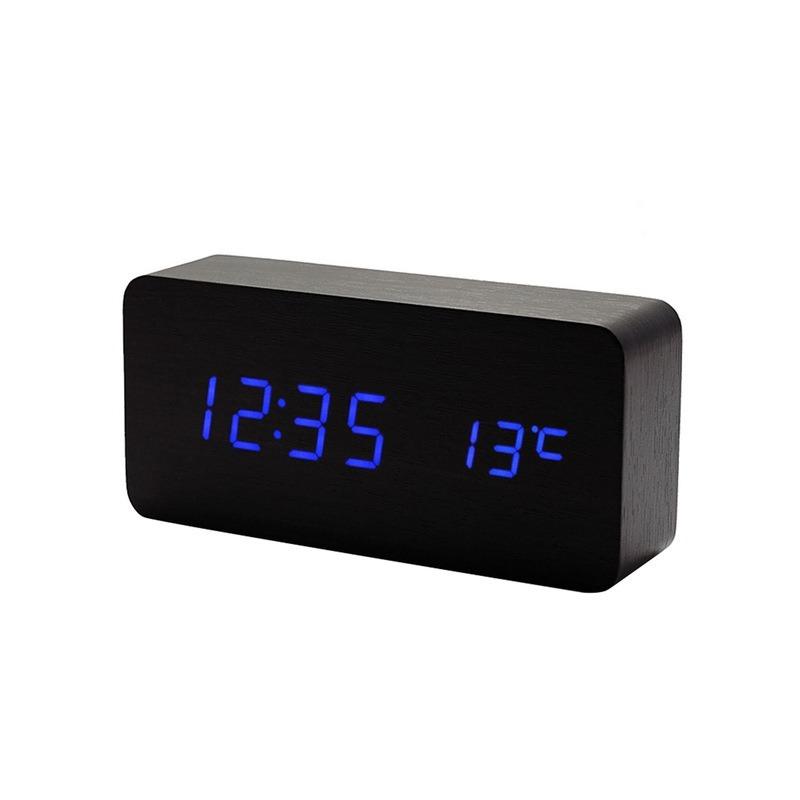 43d2e3e71d9 relógio despertador mesa digital madeira sound control p a. Carregando zoom.