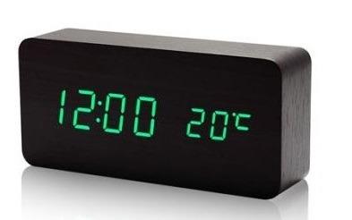 3c3111725a4 Relógio Despertador Mesa Digital Madeira Sound Control P A - R  59 ...