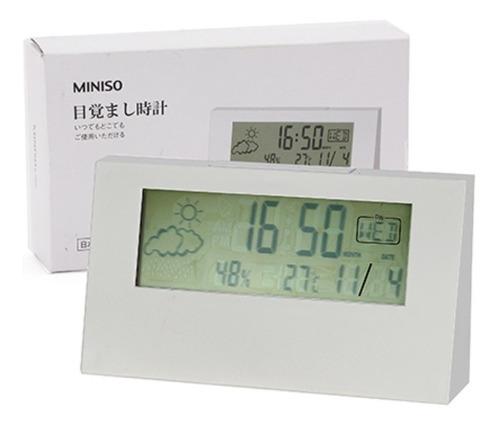 relógio despertador miniso - cor branca