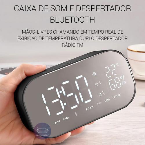 relógio despertador rádio