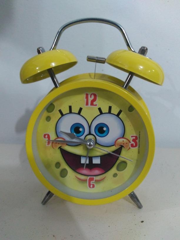 be11acb12a4 relógio despertador retrô amarelo bob esponja. Carregando zoom.