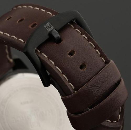 relógio desportivo quartz hour data pulseira de couro