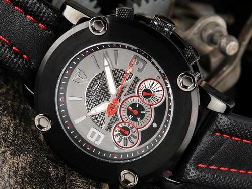 relógio detomaso monterosso black - clear dial