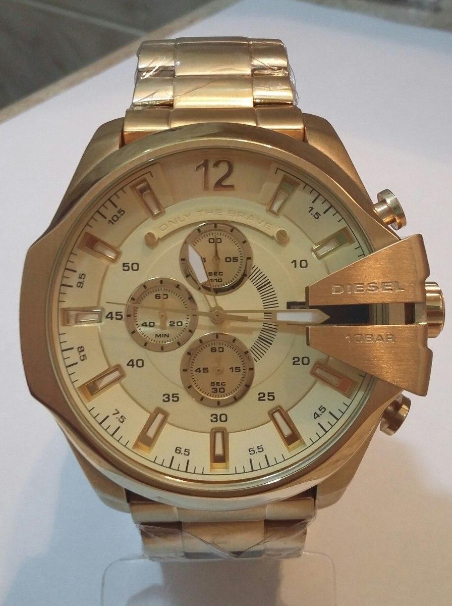 e160779703369 Relógio Diesel 10 Bar Dourado !!! - R  419,00 em Mercado Livre