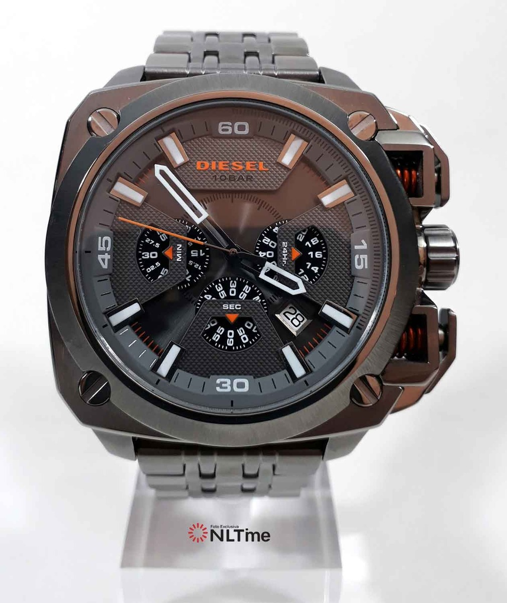 9953e8e4950 relógio diesel bamf cronógrafo dz7344  gunmetal. Carregando zoom.