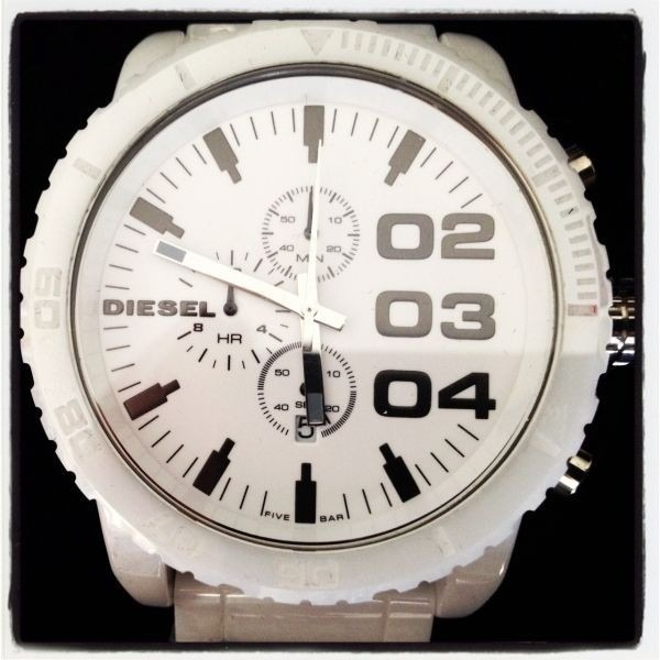 85dbd97d0b2 Relógio Diesel Cerâmica Branco Dz1515 Original 12x Sem Juros - R ...