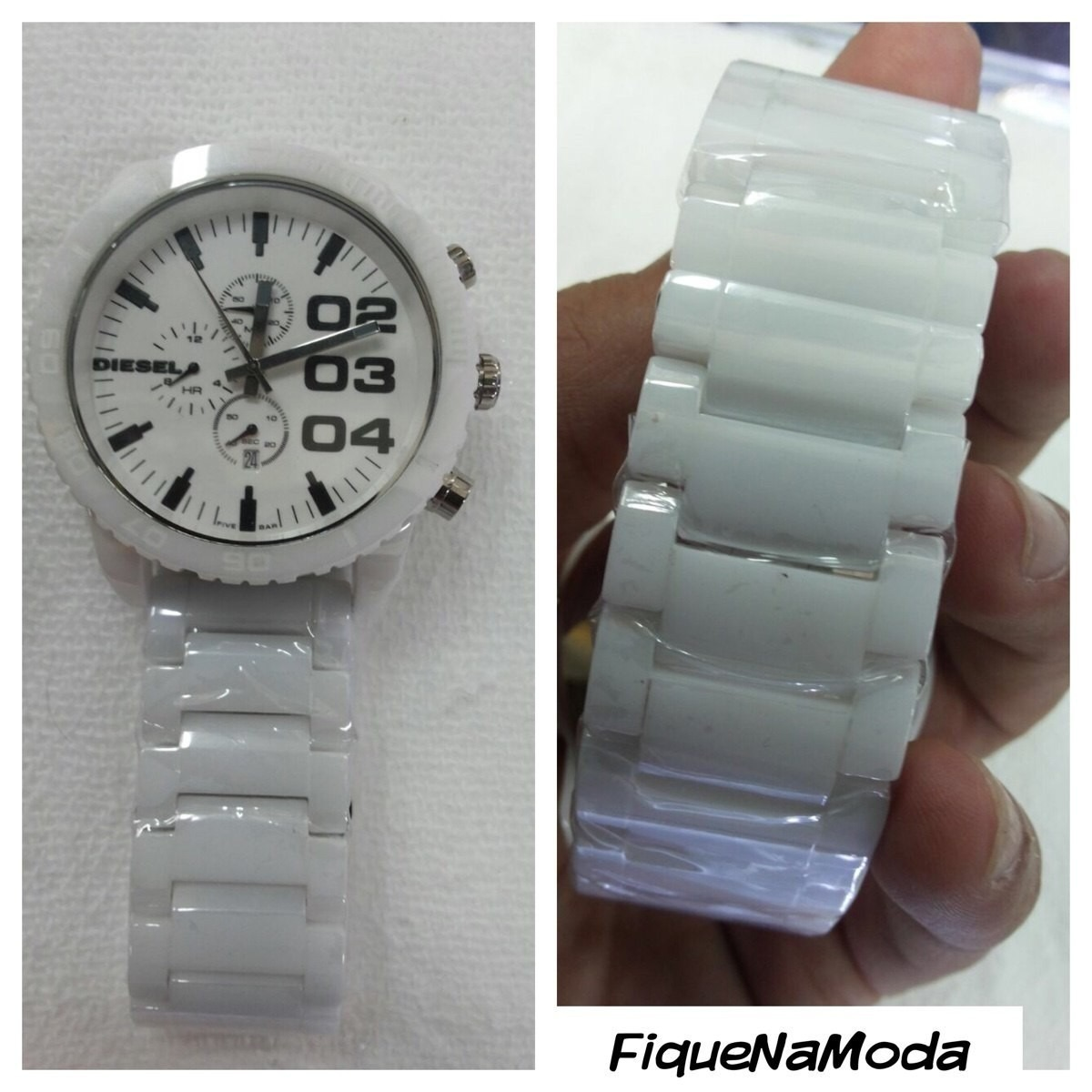 7495af877f7 relógio diesel cerâmica branco dz1515 original 12x sem juros. Carregando  zoom.