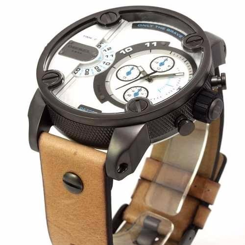 Relógio Diesel Dz-7269 Couro Original Lançamento Completo - R  559 ... 91bc346af5d