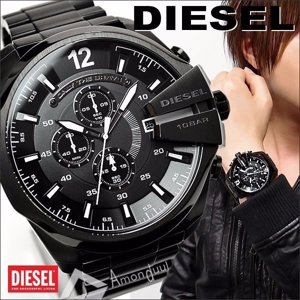 930acdce956 Relogio Diesel Dz4283 Mega Chief 10 Bar Black Promoção!!! - R  267 ...