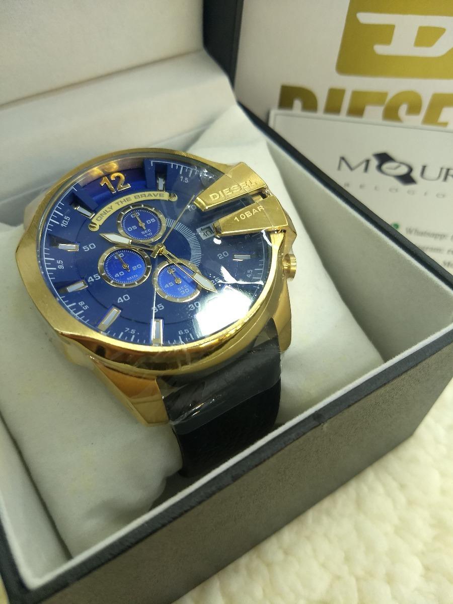 624848bcaba relógio diesel dz4283 mega chief gold blue + brinde. Carregando zoom.