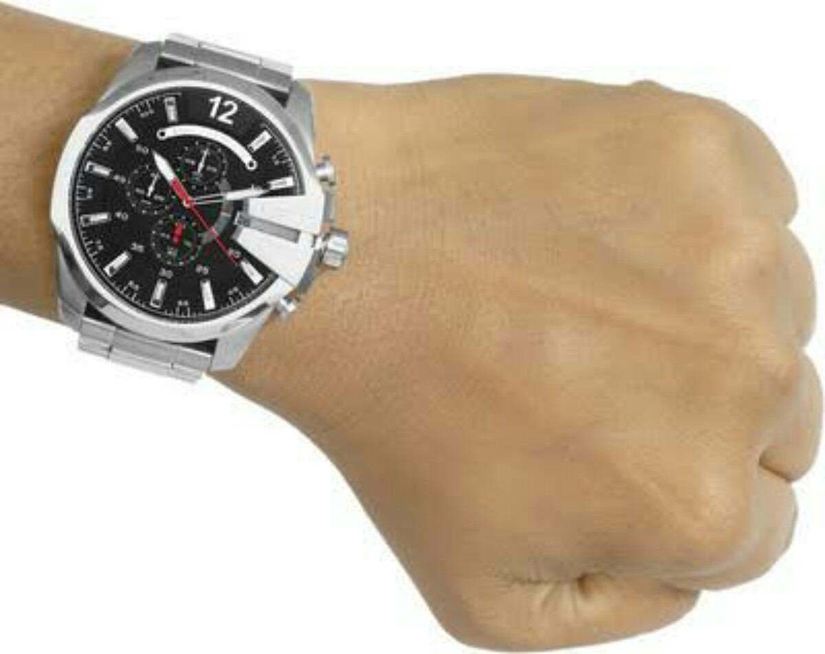 aafa70aac3d relógio diesel dz4308 original prata preto ...