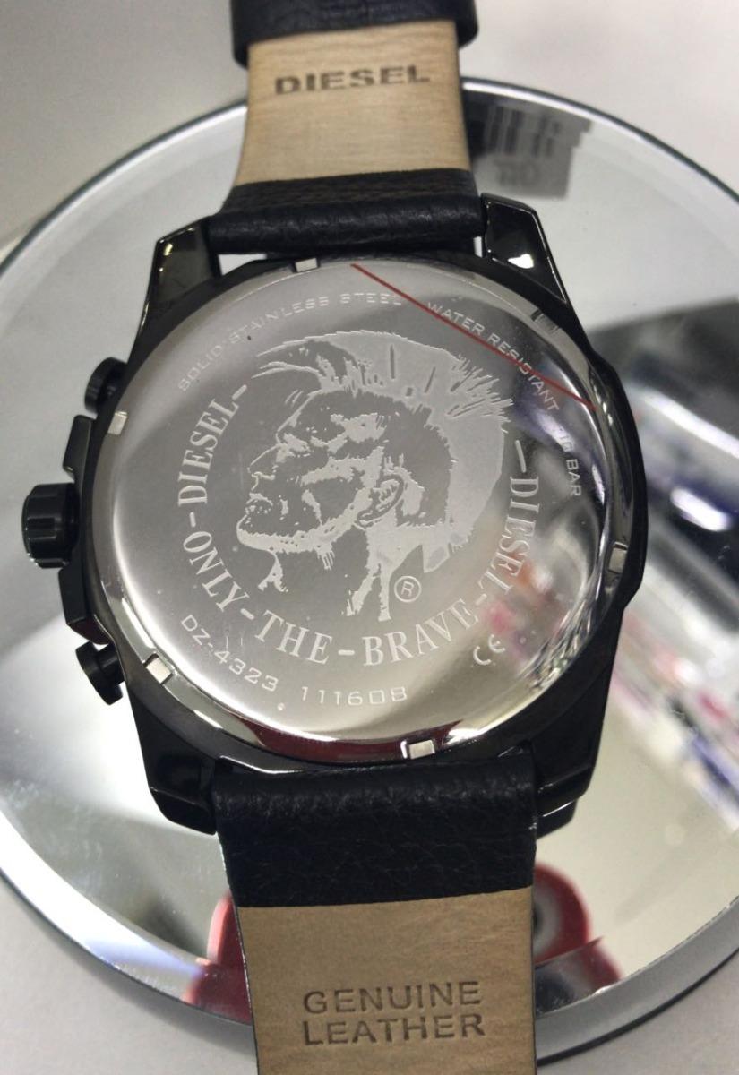4b6e2f53bf5 relógio diesel dz4323 mega chief couro original. Carregando zoom.