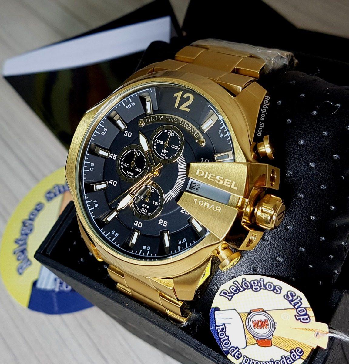 d5e33e80ca4 relógio diesel dz4344 caixa original  dourado  frete grátis. Carregando  zoom.