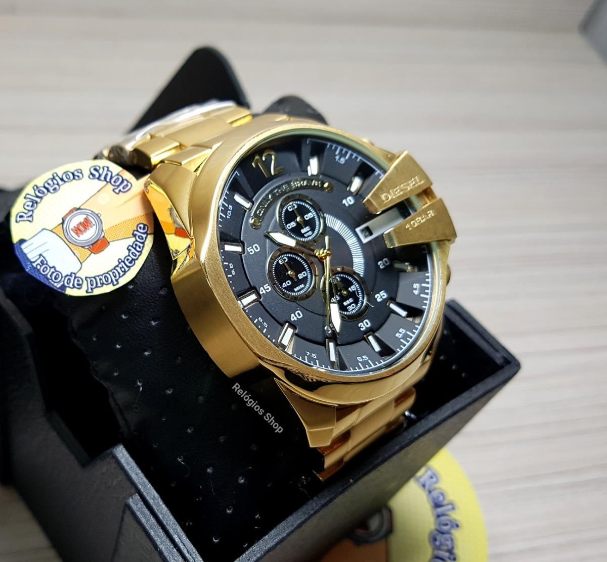 relógio diesel dz4344 caixa original  dourado  frete grátis. Carregando  zoom. 9d43308cb0
