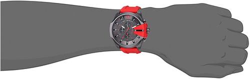 relógio diesel dz4427 mega chief original vermelho 51mm